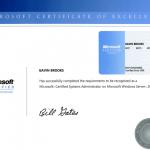 MCSE Certificate