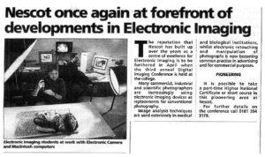 Gavin in newspaper article